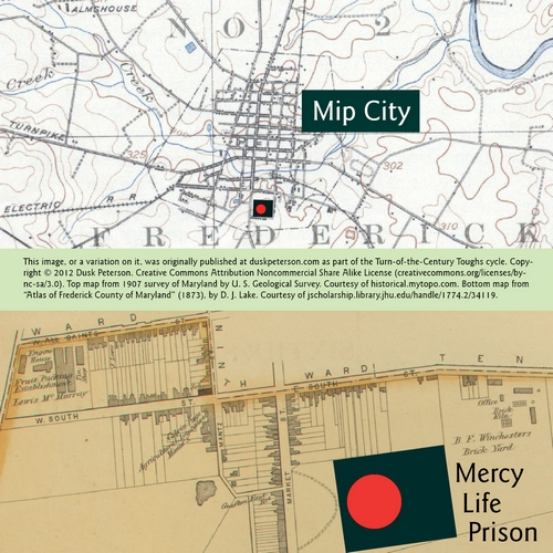 Map of Mip City, showing Mercy Life Prison